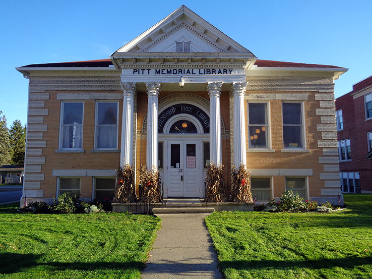 Pitt Memorial Library in Friendship