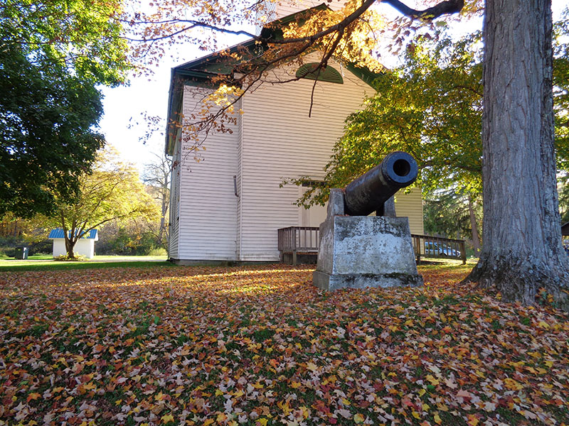 Cannon in front of GAR Hall at Island Park